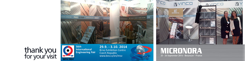 VINCO present at Micronora and MSV 2014