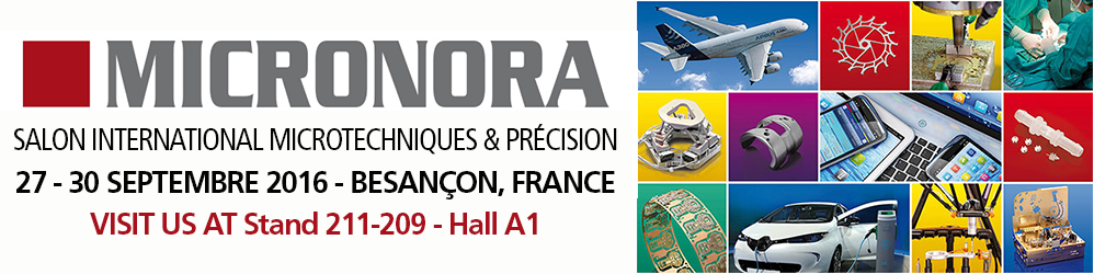 The company VINCO will be located at MICRONORA 2016 Stand 211-209 - Hall A1