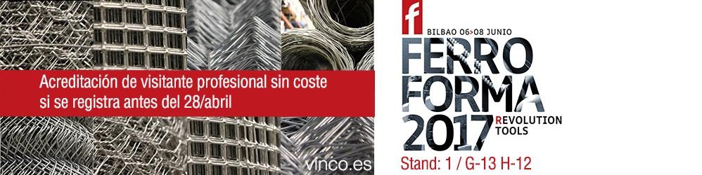 Ferroforma acreditación gratuita si realiza su registro antes del 28 de abril
