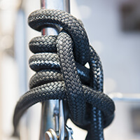 Synthetic fibre rope